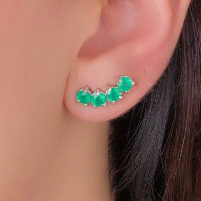 Brinco Ear Cuff Pontos de Luz
