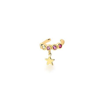 Piercing Star Quartzo Rosa