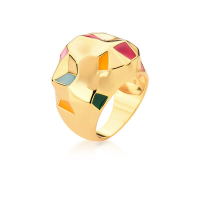 Anel Diamante Detalhes Colors