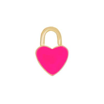 Pingente Coração Resinado Pink