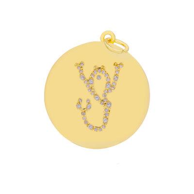 Pingente Medalha Signo Escorpião