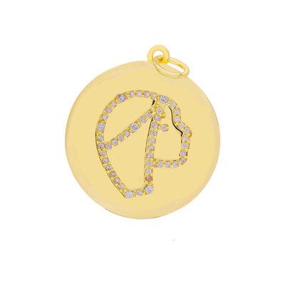 Pingente Medalha Signo Virgem