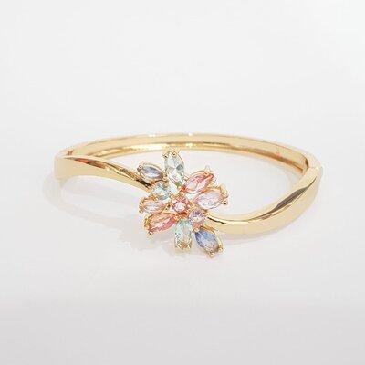 Bracelete Flor Mini Navetes