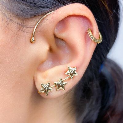 Brinco Ear Cuff Natana Star