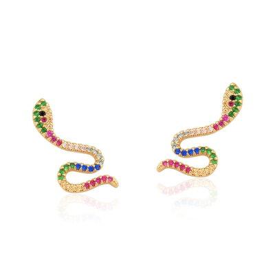 Brinco Snake Cravejado Colors