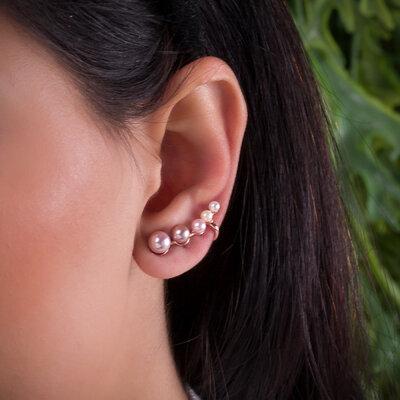 Brinco Ear Cuff Pérolas