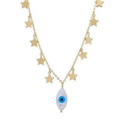 Colar Estrelas com Olho Grego