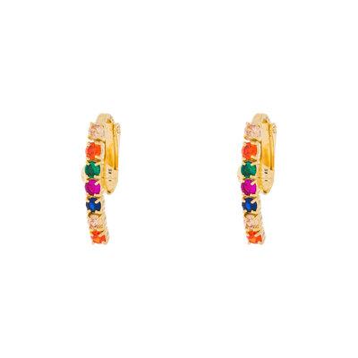 Brinco Ear Hook Filetes Colors (Pressão)
