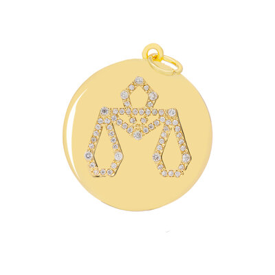 Pingente Medalha Signo Libra