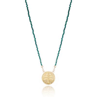 Colar Pedrarias Medalha São Bento