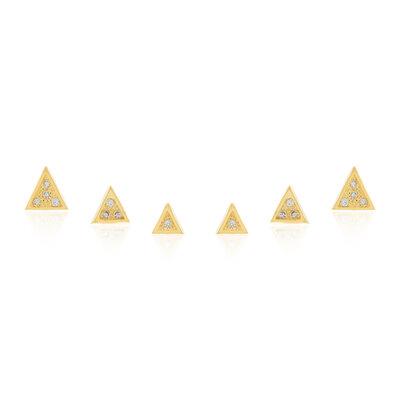 Brinco Kit Mini Triangulos