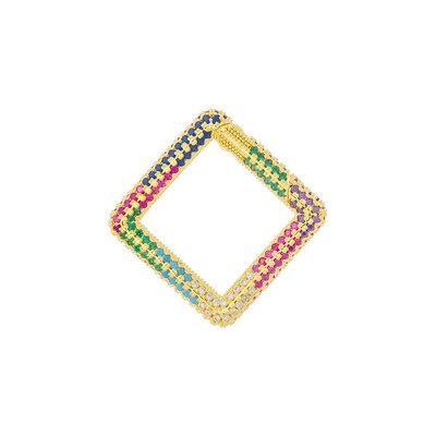 Pingente Mosquetão Quadrado Colors