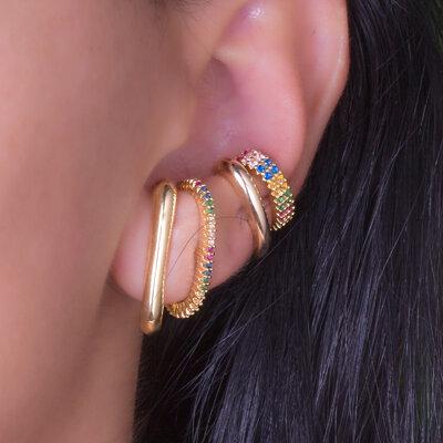 Piercing Dois Filetes Colors