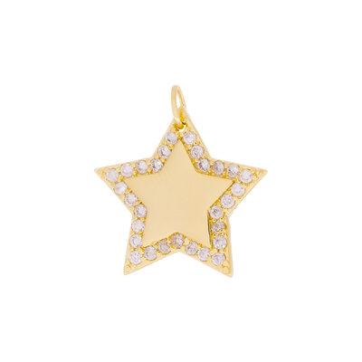 Pingente Estrela Micro Cravejada
