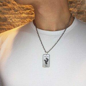 Colar Personalizado FOR MEN em Placa Aço Inox