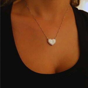 Colar Coração Single Menina com Micro Zircônias Ouro Branco