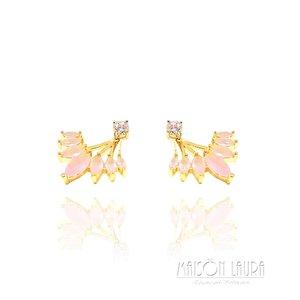 Brinco Ear Jacket Ouro Amarelo 18K