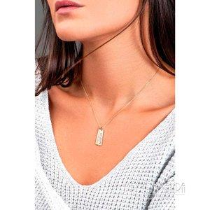 Colar Placa Necklace Dupla