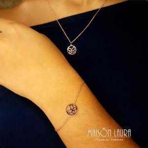 Pulseira Butterfly Ouro Rose