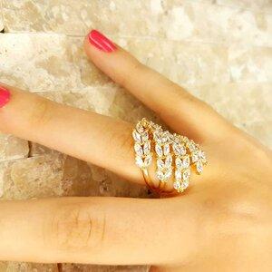 Anel Ramos em Ouro Amarelo 18K