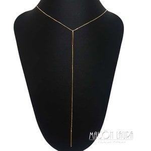 Colar Gravatinha Trevoa Ouro Amarelo 18K