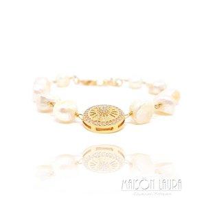 Pulseira Asteca em Ouro Amarelo 18K