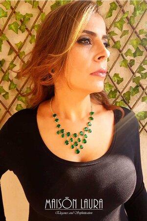 Conjunto Velute Esmeralda - Ouro Amarelo 18K