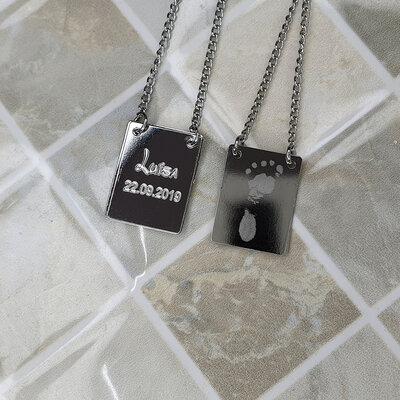Escapulário Personalizada Aço Inox
