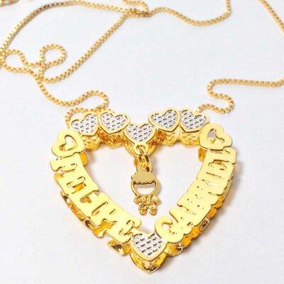 Mandala Personalizada Formato Coração S/ Zircônias