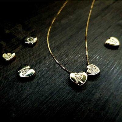 Monte seu Colar Letras Iniciais Elegance Heart