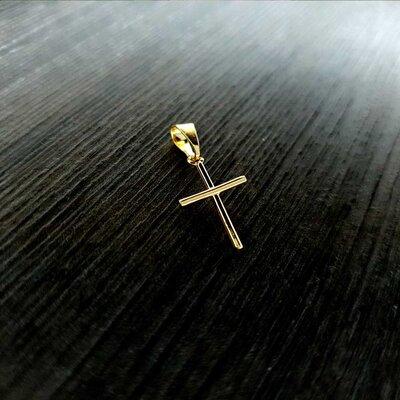 Colar Crucifixo Fé Liso