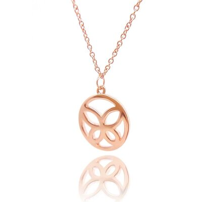 Colar Butterfly Ouro Rose