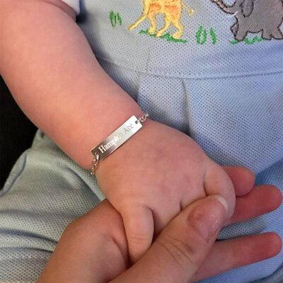 Pulseira Personalizada Infantil/baby em Aço