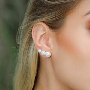 BRINCO EAR CUFF 3 PÉROLAS