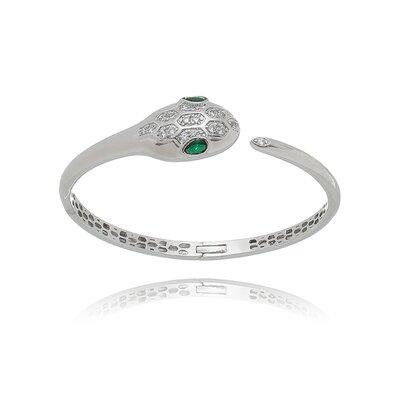 Bracelete Serpente Jade Verde