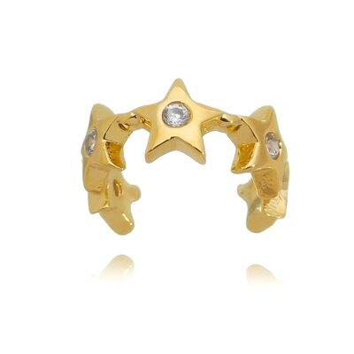 Brinco Piercing Fake Estrelinhas Dourado