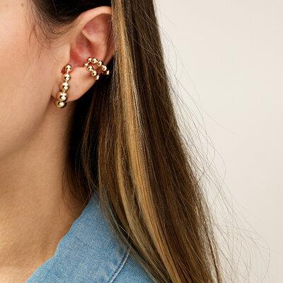 Brinco Ear Hook Folheado Dourado Essência