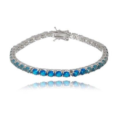 Pulseira Em Prata Grace Azul Degradê