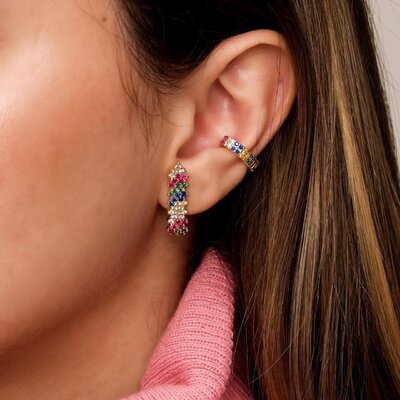 Brinco Ear Hook Zig Zag Multicolor