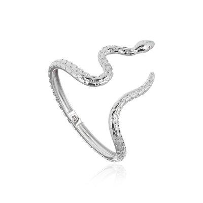 Bracelete Serpente Lisa Ródio