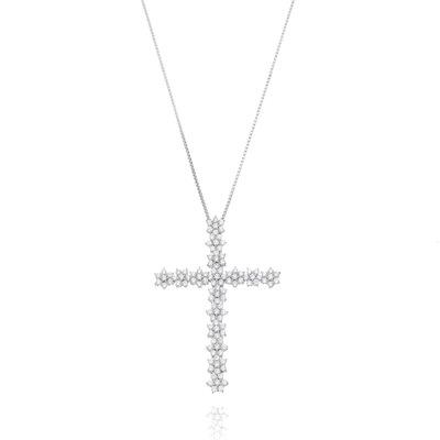 Crucifixo Em Prata Florzinha