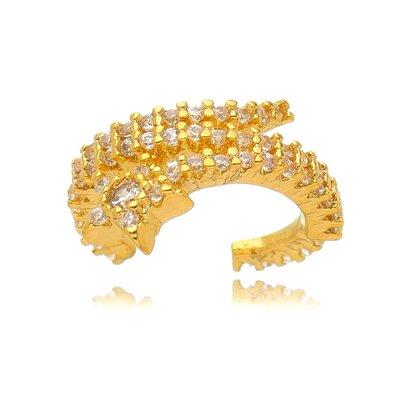 Piercing Fake Dourado Estrelinha Cravejada