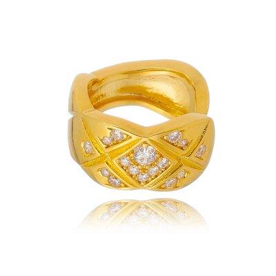 Piercing Fake Em Prata Petra Dourado