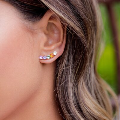 Ear Cuff Em Prata Grace Color Dourado