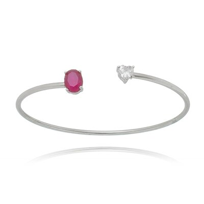 Bracelete Lola Cristal e Rubi