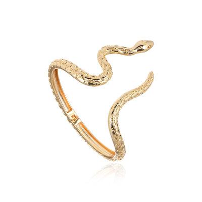 Bracelete Serpente Lisa Dourada