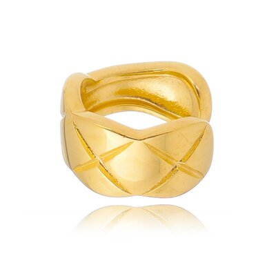 Piercing Fake Em Prata Petra Liso Dourado