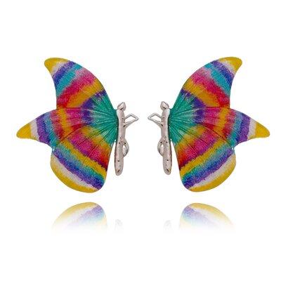 Borboleta Pintada Á Mão Rainbow Ana Paula G