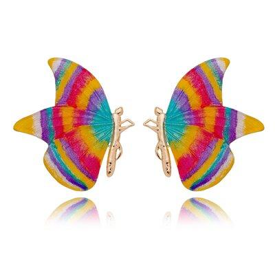 Borboleta Pintada Á Mão Rainbow Ana Paula Dourado G