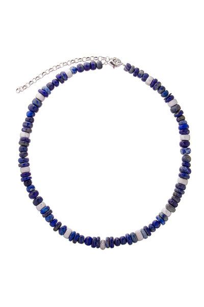 Colar Beads Lápis Lazuli